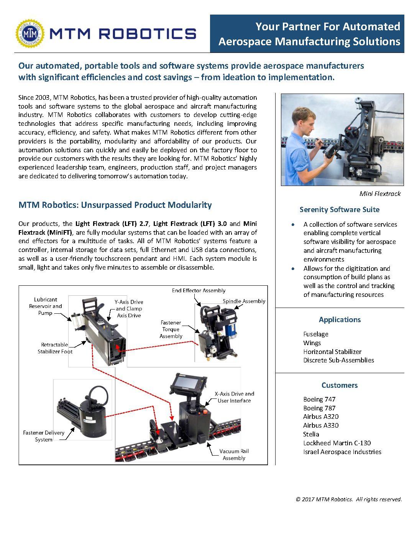 Mtm Robotics Marketing Brochure Mtm